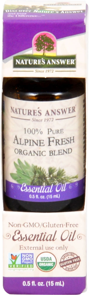 Nature's Answer 100% Pure Organic Essential Oil Blend Alpine Fresh - 0.5 fl oz: отзывы и инструкция как принимать