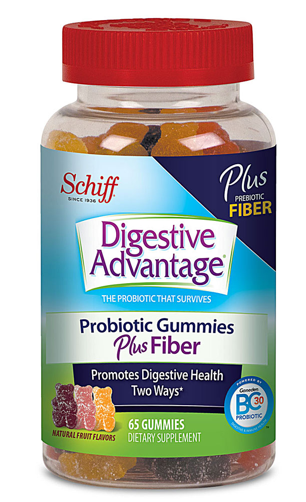 Schiff Digestive Advantage® Probiotic Gummies Plus Fiber Natural Fruit - 65 Gummies: отзывы и инструкция как принимать