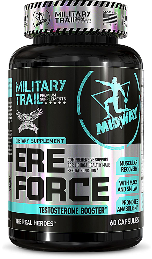 Midway Labs Military Trail Ere Force Testosterone Booster - 60 капсул: отзывы и инструкция как принимать
