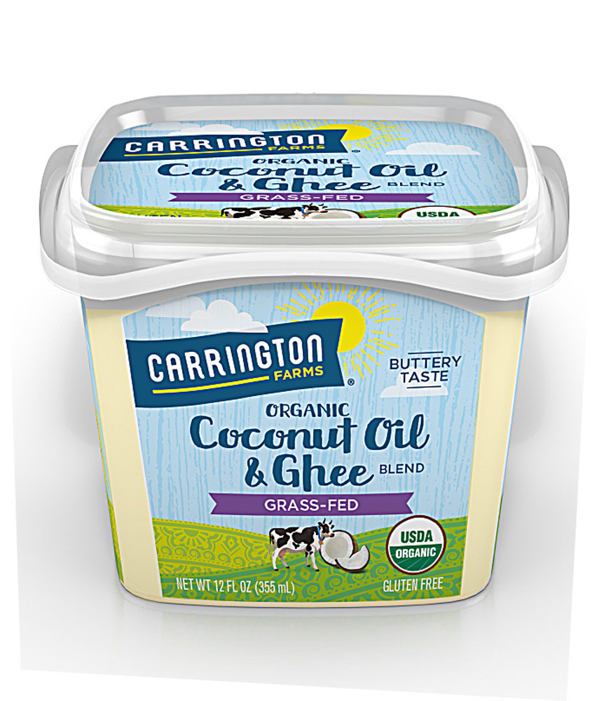 Carrington Farms Organic Coconut Oil & Ghee Blend Grass fed - 12 fl oz: отзывы и инструкция как принимать