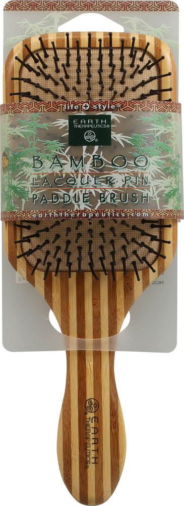 Earth Therapeutics Large Bamboo Lacquer Pin Paddle Brush - 1 Brush: отзывы и инструкция как принимать