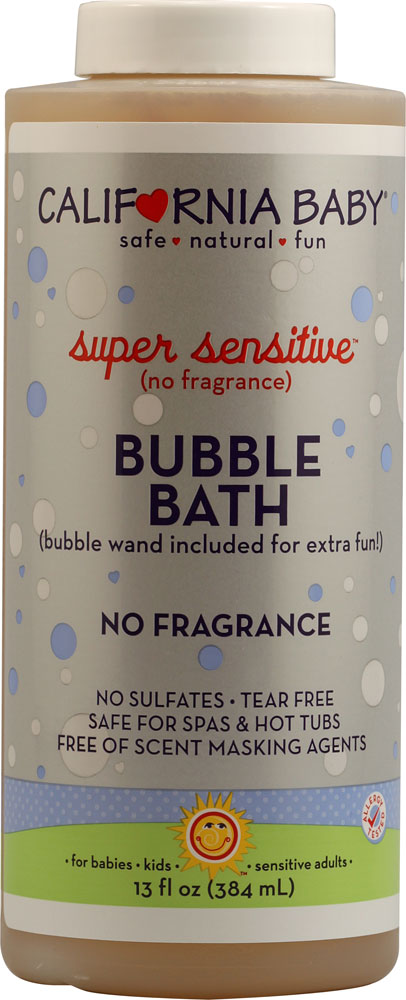 California Baby Super Sensitive ™ Bubble Bath No Fragrance - 13 fl oz: отзывы и инструкция как принимать