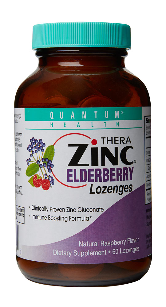 Quantum Health® Thera Zinc Elderberry Lozenges Natural Raspberry - 60 Lozenges: отзывы и инструкция как принимать