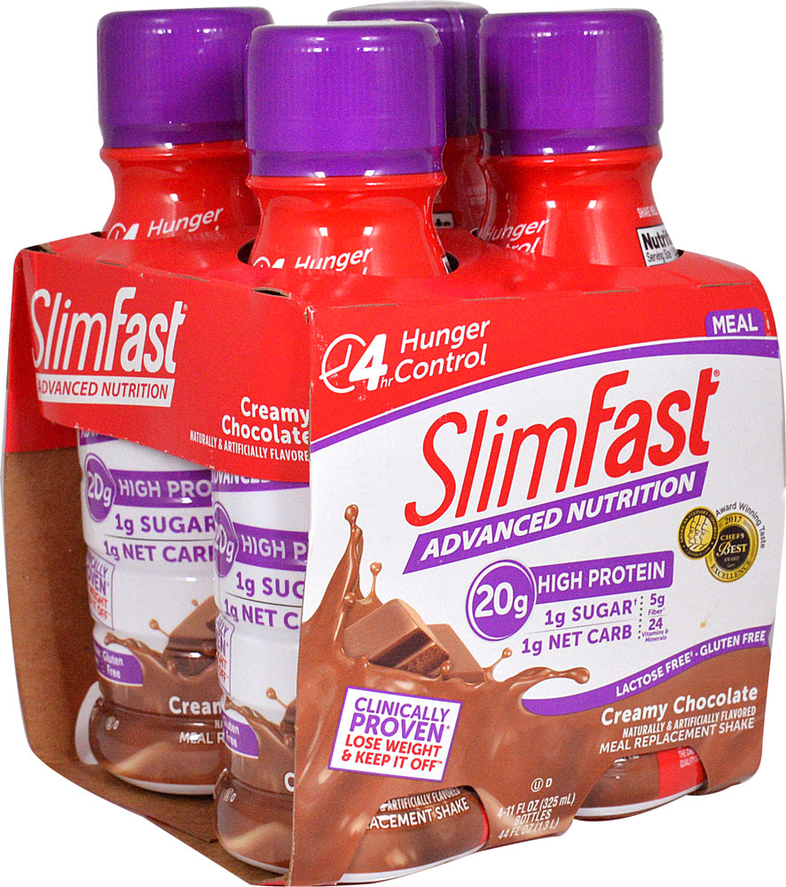 SlimFast Advanced Nutrition High Protein RTD Shake Creamy Chocolate - 4 Pack: отзывы и инструкция как принимать