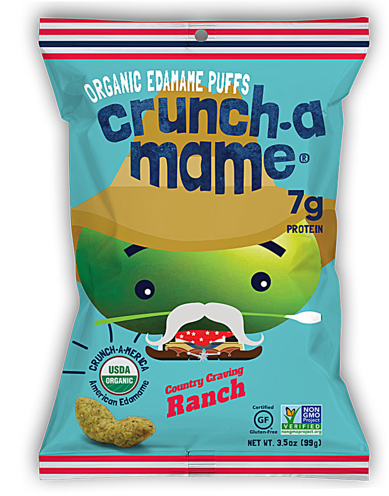 Eda-Zen Crunch-a-Mame® Organic Edamame Puffs Gluten Free Country Craving Ranch - 3,5 унции: отзывы и инструкция как принимать