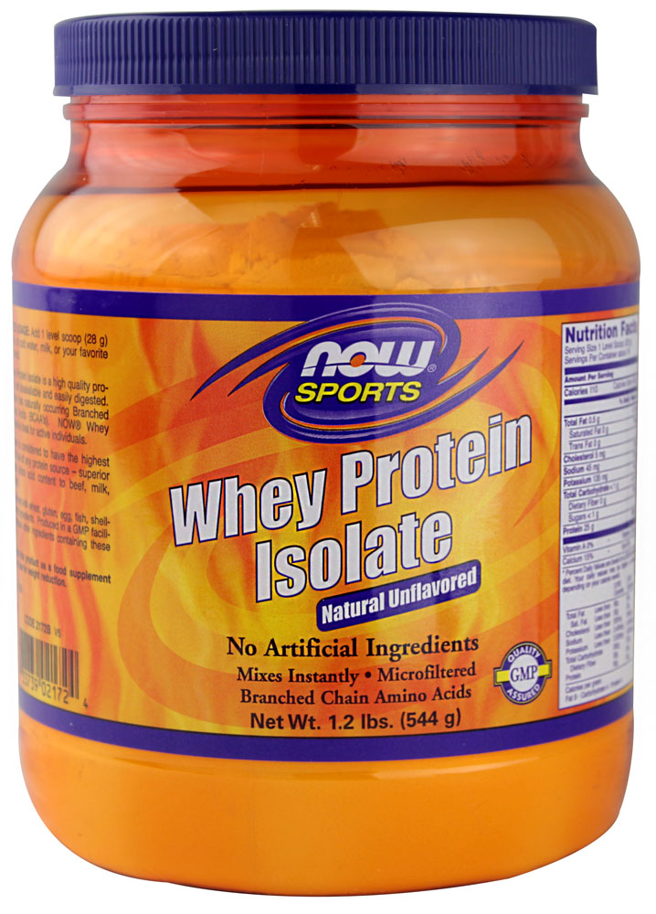 NOW Foods Sports Whey Protein Isolate Natural Unflavored - 5 фунтов: отзывы и инструкция как принимать