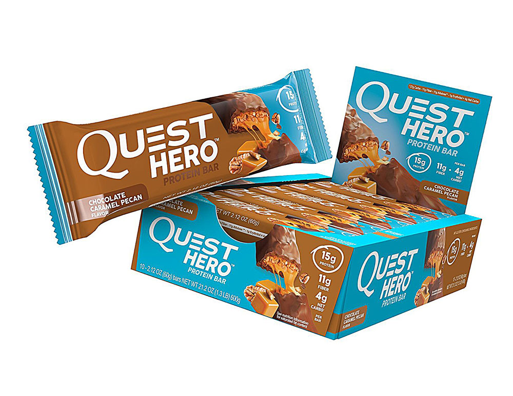 Quest Nutrition Quest HERO Protein Bar Шоколадная карамель Пекан - 10 баров: отзывы и инструкция как принимать