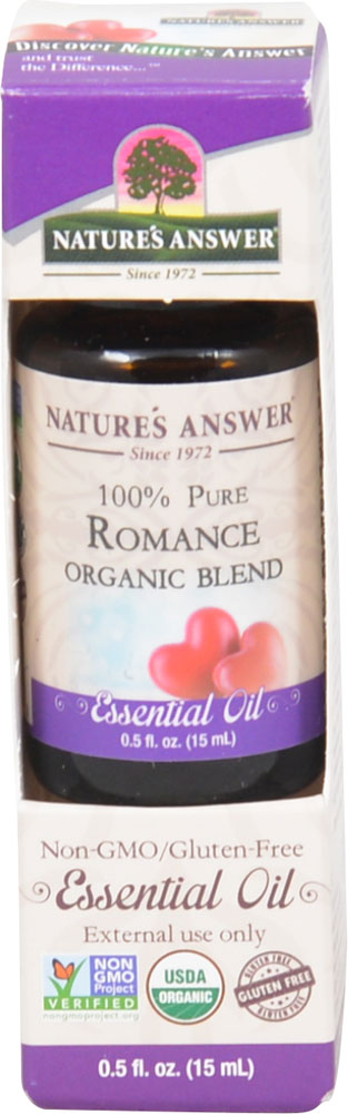Nature's Answer 100% Pure Organic Essential Oil Blend Romance - 0.5 fl oz: отзывы и инструкция как принимать