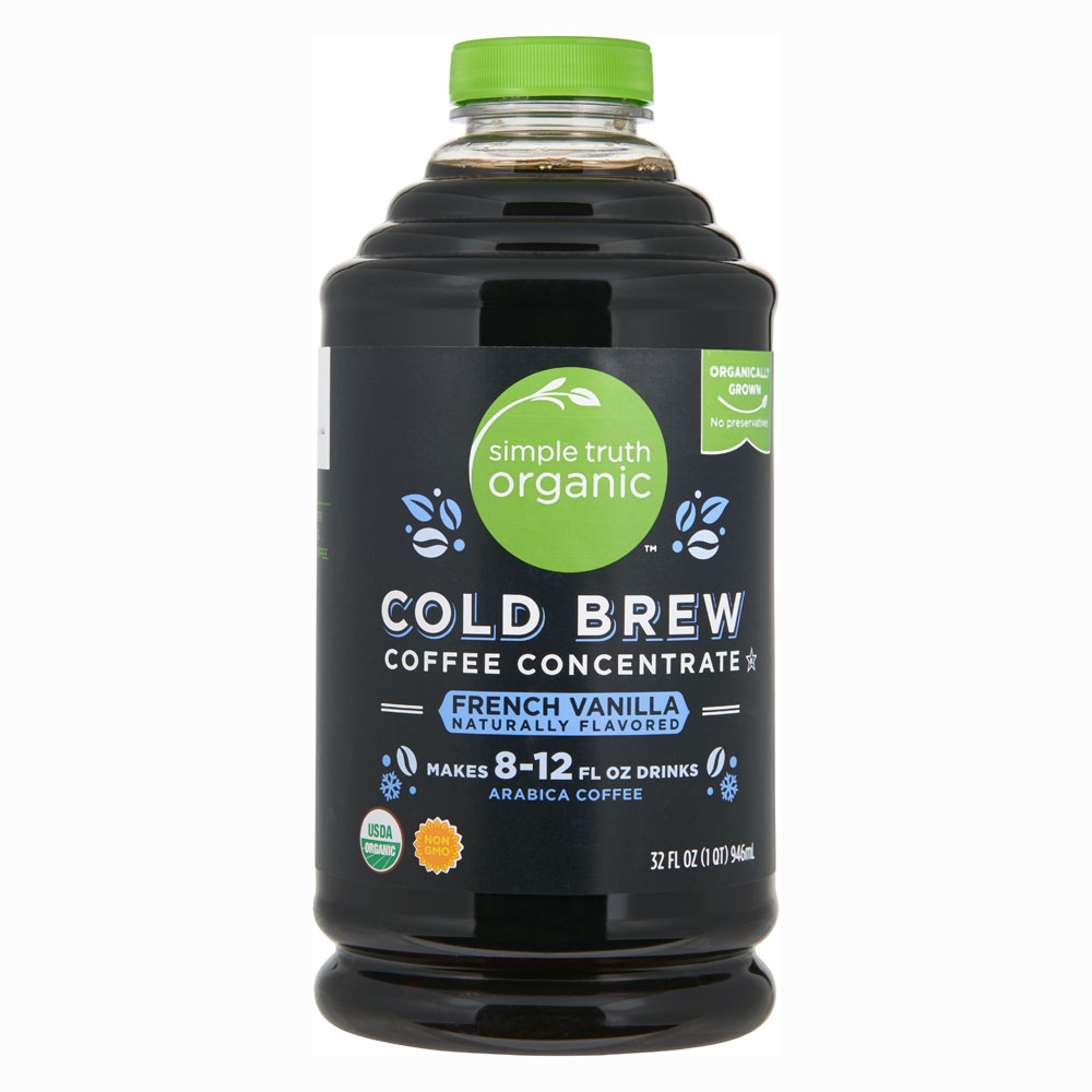Simple Truth® Organic Cold Brew Coffee Concentrate French Vanilla - 32 fl oz: отзывы и инструкция как принимать