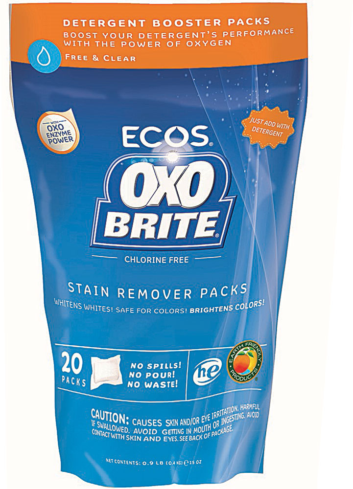 Earth Friendly Ecos OxoBrite® Stain Remover Packs Free and Clear - 20 пакетов: отзывы и инструкция как принимать