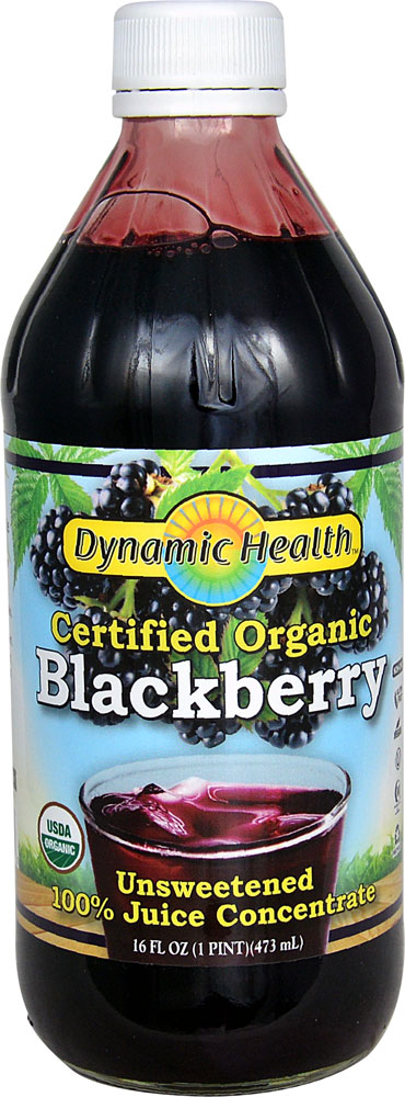 Dynamic Health Organic Blackberry Unsweetened Juice Concentrate - 16 fl oz: отзывы и инструкция как принимать