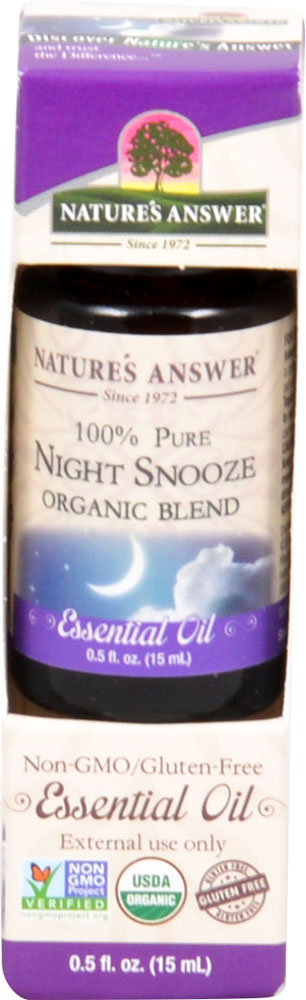 Nature's Answer 100% Pure Organic Essential Oil Blend Night Snooze - 0.5 fl oz: отзывы и инструкция как принимать