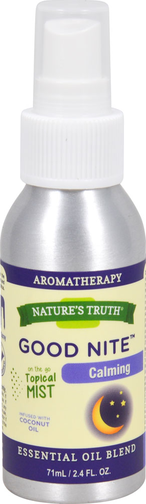 Nature's Truth Essential Oil Blend Spray Good Nite ™ Calming - 2.4 fl oz: отзывы и инструкция как принимать