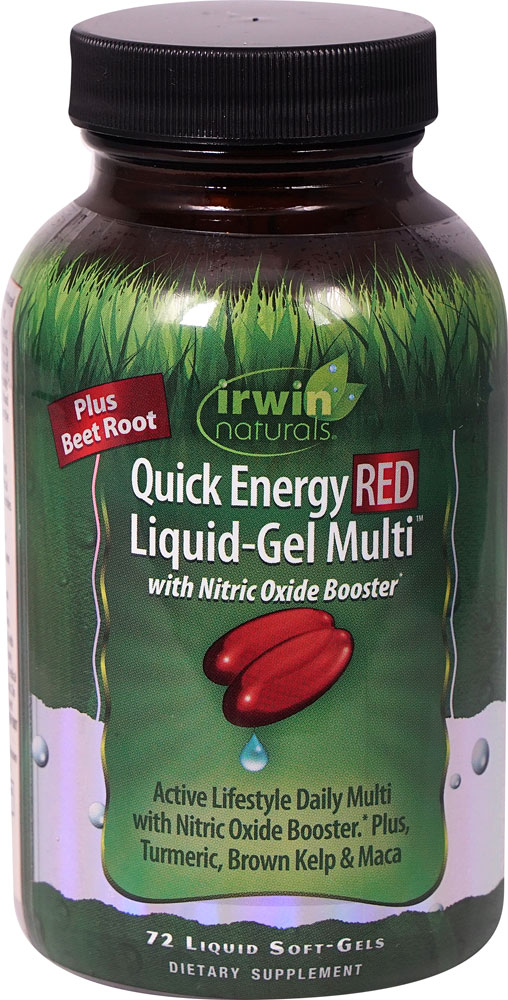 Irwin Naturals Quick Energy RED Liquid-Gel Multi ™ - 72 Liquid Softgels: отзывы и инструкция как принимать