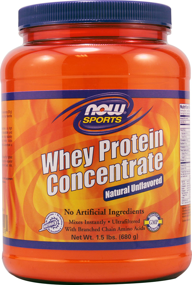 NOW Foods Sports Whey Protein Concentrate Unflavored - 1,5 фунта: отзывы и инструкция как принимать