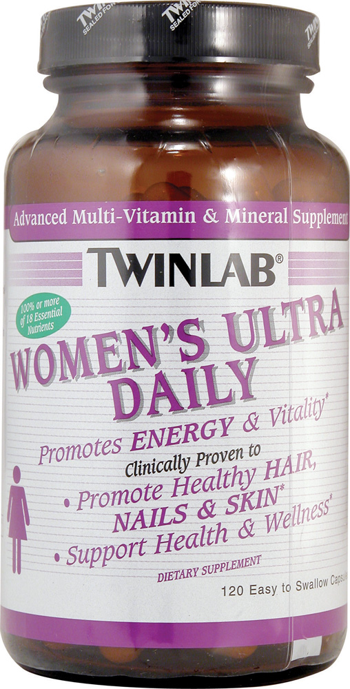Twinlab Women's Ultra Daily Multi-Vitamin and Mineral Supplement - 120 капсул: отзывы и инструкция как принимать