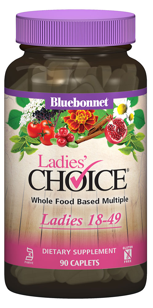 Bluebonnet Nutrition Ladie's Choice® Whole Food Based Multiple Ladies 18-49 - 90 Caplets: отзывы и инструкция как принимать