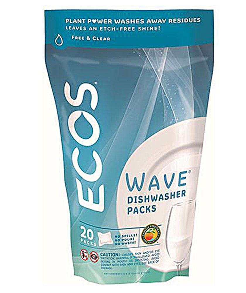 Earth Friendly Products Wave® Automatic Dishwasher Detergent Free and Clear - 20 Pods: отзывы и инструкция как принимать