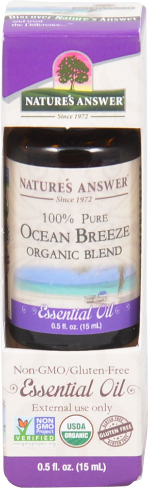 Nature's Answer 100% Pure Organic Essential Oil Blend Ocean Breeze - 0.5 fl oz: отзывы и инструкция как принимать