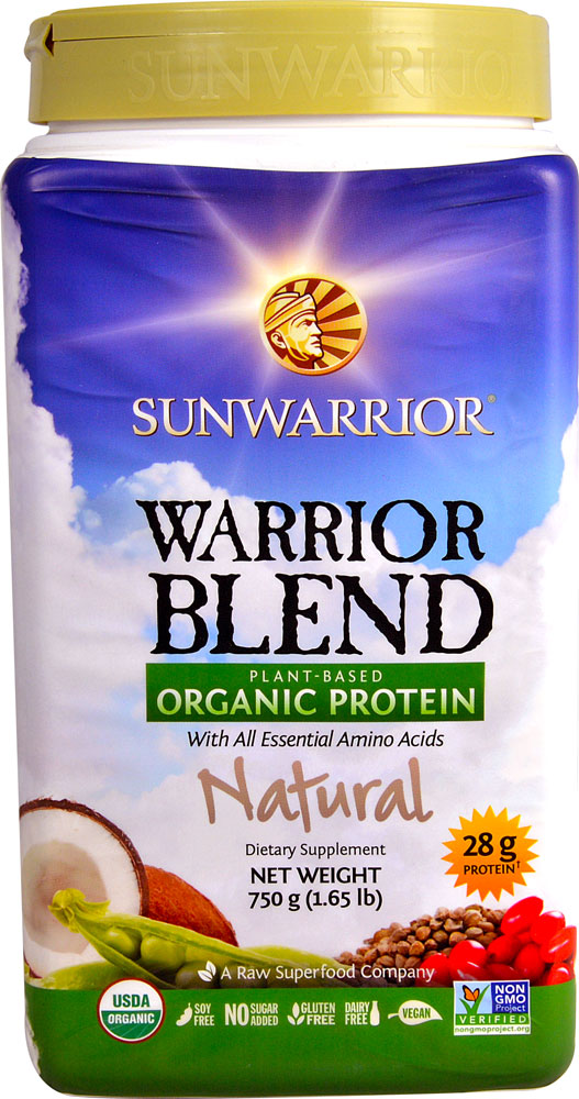 Sunwarrior Warrior Blend Plant-Based Organic Protein Natural - 1,65 lbs: отзывы и инструкция как принимать