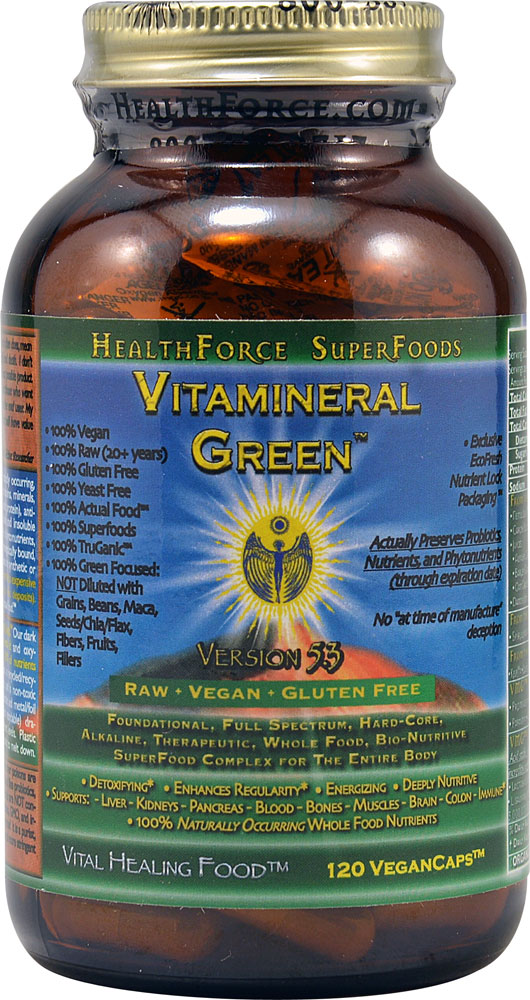 HealthForce Superfoods Vitamineral Green ™ Version 5.3 - 120 Vegan Capsules: отзывы и инструкция как принимать