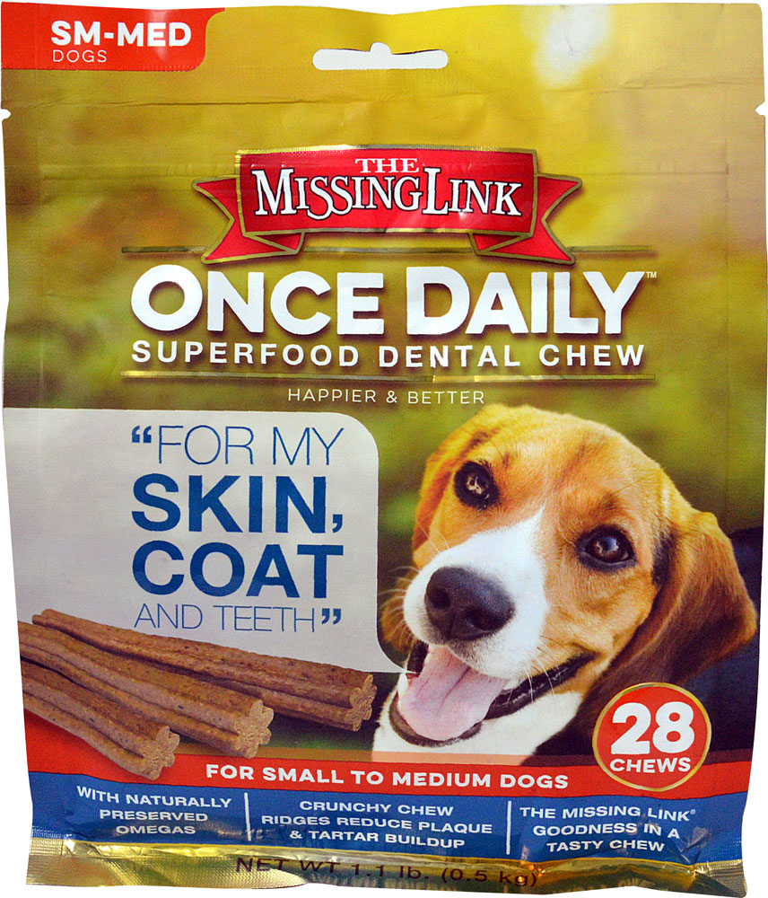 Missing Link One Daily ™ Superfood Dental Chew Skin Coat & Teeth SM-MED Dogs - 28 Chews: отзывы и инструкция как принимать