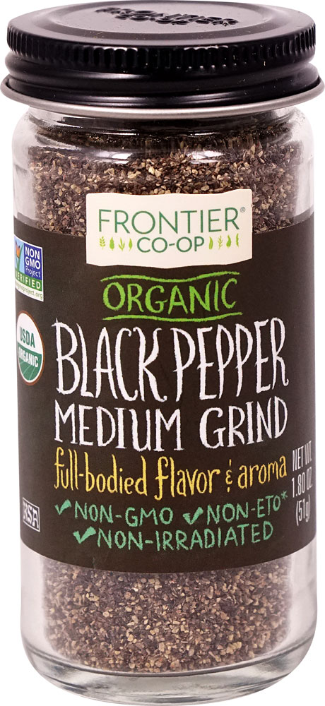 Frontier Co-Op Organic Black Pepper Medium Grind Full-Bodied Flavor & Aroma - 1,8 унции: отзывы и инструкция как принимать