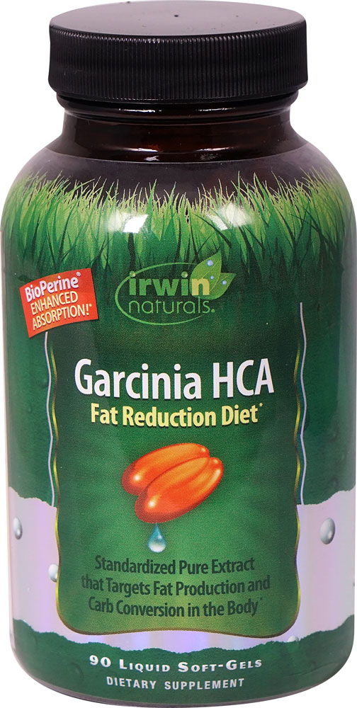 Irwin Naturals Garcinia HCA Fat Reduction Diet - 90 Liquid Softgels: отзывы и инструкция как принимать