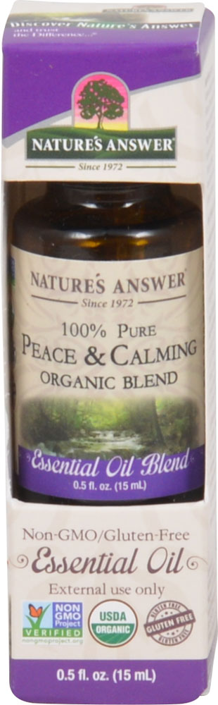 Nature's Answer 100% Pure Organic Essential Oil Blend Peace & Calming - 0.5 fl oz: отзывы и инструкция как принимать